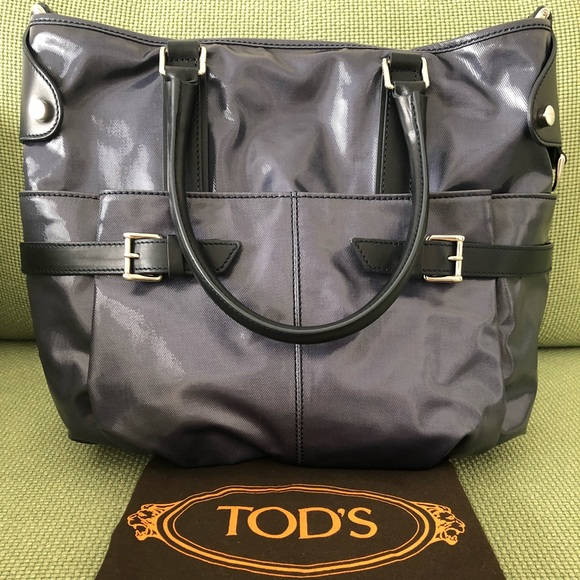Tod s Bags   Tods Coated Canvas Gline Easy Sacca Media   Poshmark 116f834d20b